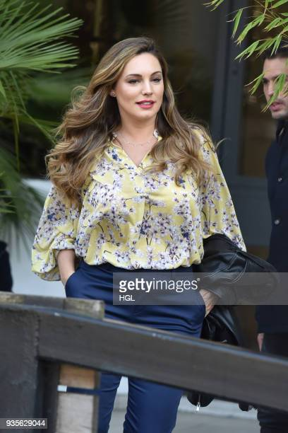 Kelly Brook seen at the ITV Studios on March 21 2018 in London England