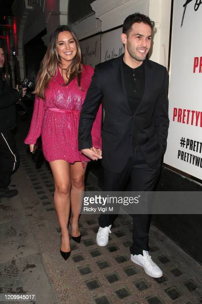 Kelly Brook seen attending Pretty Woman - press night at Piccadilly Theatre on March 02, 2020 in London, England.