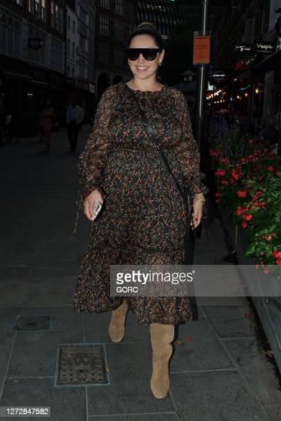 Kelly Brook seen leaving Global studios on September 16 2020 in London England