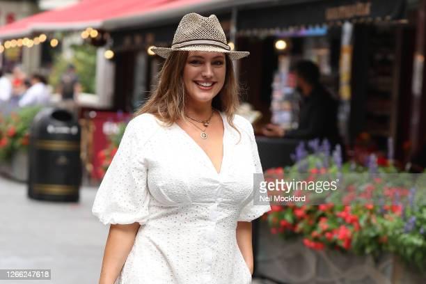 Kelly Brook seen leaving Heart Breakfast Radio Studios on August 14 2020 in London England