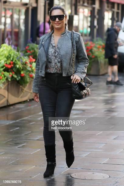 Kelly Brook seen leaving Heart Breakfast Radio Studios on August 28 2020 in London England