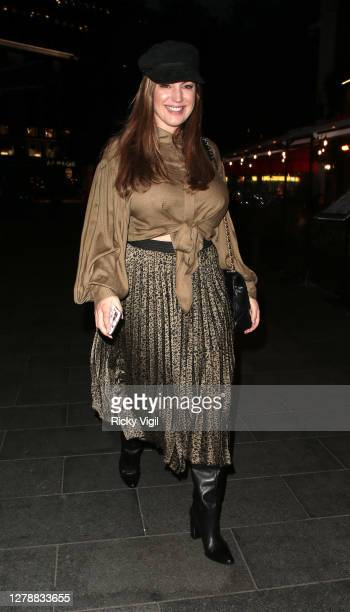 Kelly Brook seen leaving Heart FM on October 06 2020 in London England