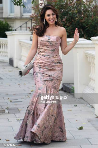Kelly Brook seen leaving her house to attend Elton John's White Tie & Tiara Ball on June 28, 2012 in London, England.