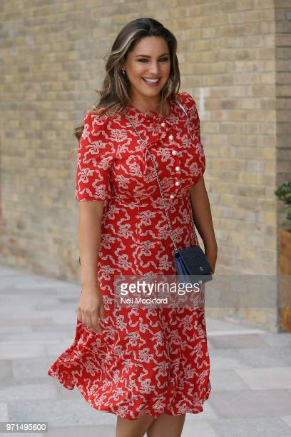 Kelly Brook seen leaving Loose Women on June 11 2018 in London England