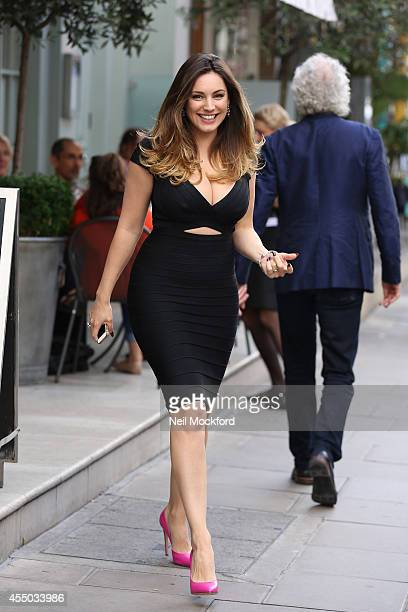 Kelly Brook seen leaving The Charlotte Street Hotel on September 9 2014 in London England