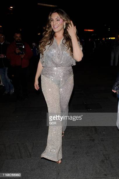 Kelly Brook seen leaving the Global Radio summer party on August 15 2019 in London England