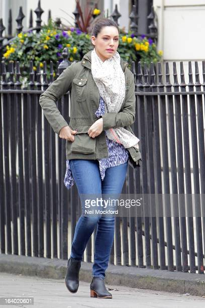 Kelly Brook seen near her home on March 19 2013 in London England