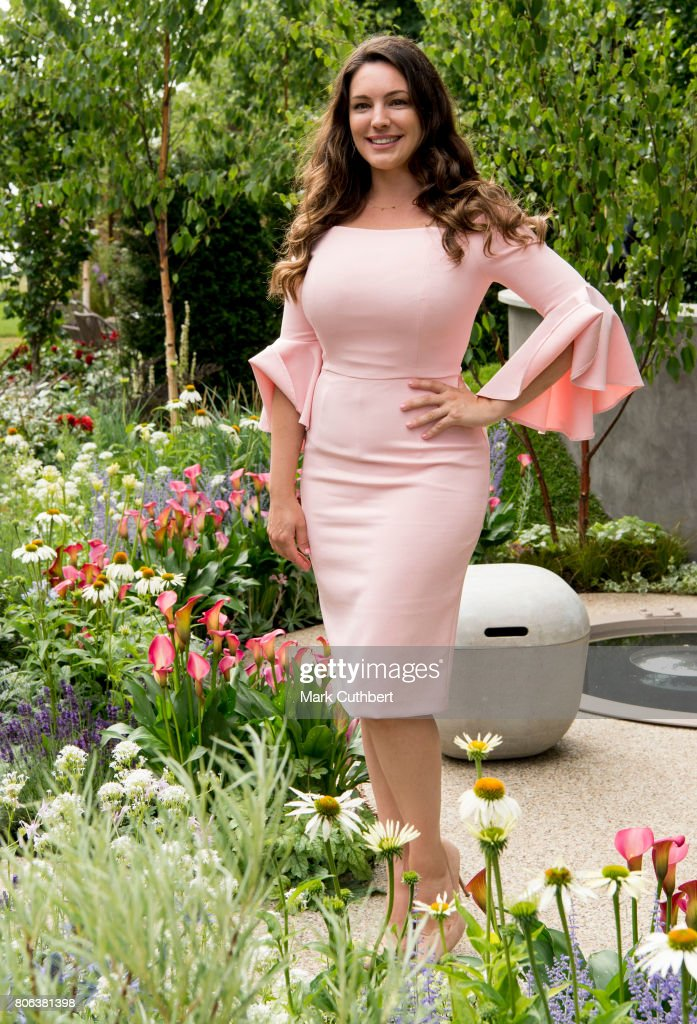 Kelly Brook visits Hampton Court Palace Flower Show on Press Day at Hampton Court Palace on July 3, 2017 in London, England.