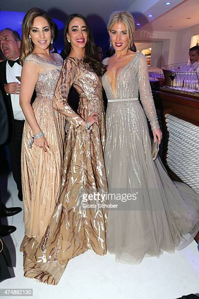 Kelly Brook Zeina Nabulsi and Hofit Golan during amfAR's 22nd Cinema Against AIDS Gala Presented By Bold Films And Harry Winston at Hotel du...