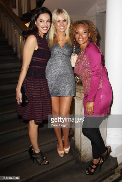 Kelly Brook Zoe Salmon and Angela Griffin pose in the press room at the Cosmopolitan Ultimate Women of the Year awards 2010 held at Banqueting House...
