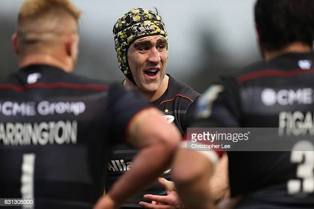 Kelly Brown of Saracens during the Aviva Premiership match between Saracens and Exeter Chiefs at Allianz Park on January 7 2017 in Barnet England