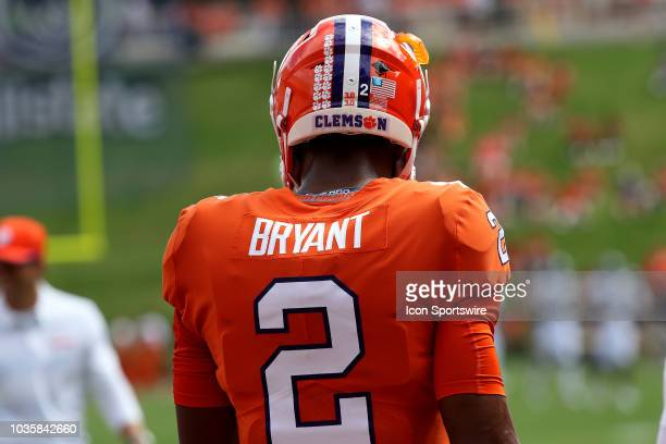 Kelly Bryant quarterback Clemson University Tigers prior to the start of the game during action between Georgia Southern and Clemson on September 15...