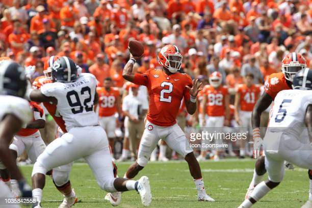 Kelly Bryant quarterback Clemson University Tigers throws a pass during action between Georgia Southern and Clemson on September 15 at Clemson...