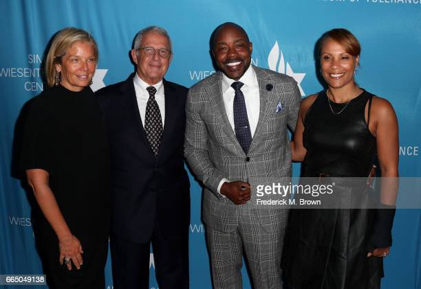 Kelly Burke NBCUniversal Vice Chairman Ron Meyer Producer Will Packer and Heather Hayslett attend The Simon Wiesenthal Center's 2017 National Tribute...