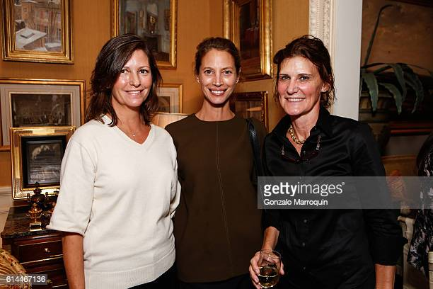 Kelly Burns Christy Turlington Burns and Florence Von Erb at the WomenOne Dinner on October 13 2016 in New York City
