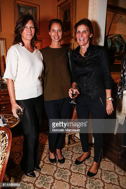 Kelly BurnsChristy Turlington and Florence Von Erb at the WomenOne Dinner on October 13 2016 in New York City