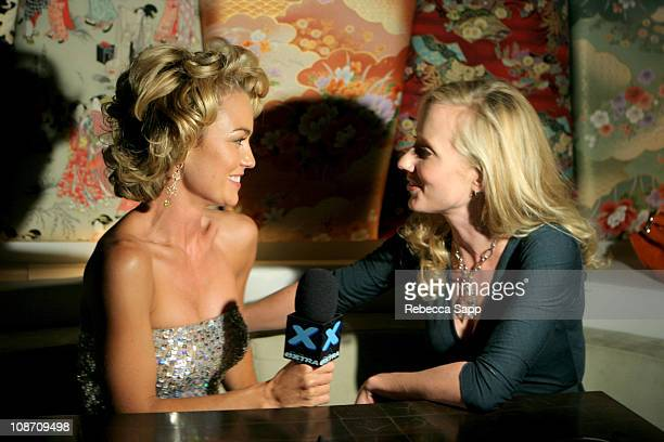 Kelly Carlson and Anne Heche during Smirnoff at FX Network's 'Nip/Tuck' 3rd Season Premiere Party at Geisha House in Hollywood California United...