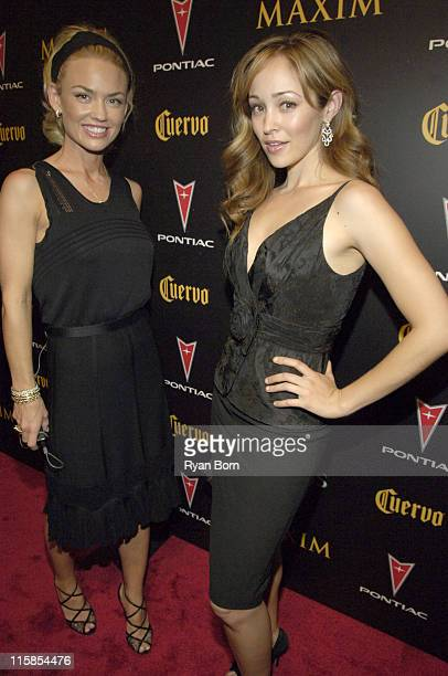 Kelly Carlson and Autumn Reeser during 2006 Maxim Hot 100 Party Red Carpet at Buddha Bar in New York City New York United States