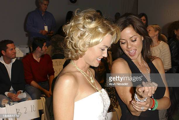 Kelly Carlson and Brooke Burke during MercedesBenz Fall 2005 LA Fashion Week at Smashbox Studios Kevan Hall Front Row at Smashbox Studios in Culver...