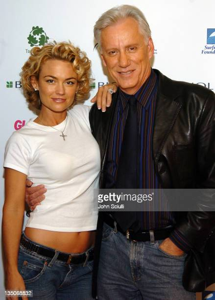 Kelly Carlson and James Woods during Glamour Presents Biolage Golden Globe Style Lounge Day 1 at L'Ermitage Hotel in Beverly Hills California United...