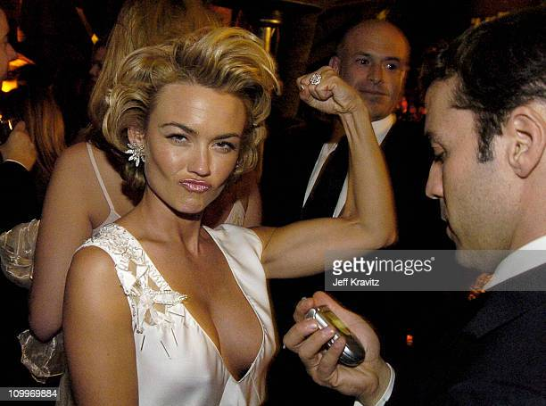 Kelly Carlson and Jeremy Piven during HBO Golden Globe Awards Party - Inside at Beverly Hills Hilton in Beverly Hills, California, United States.