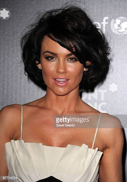 Kelly Carlson attends the Montblanc Charity Cocktail hosted by the Weinstein Company to benefit UNICEF at Soho House on March 6 2010 in West...