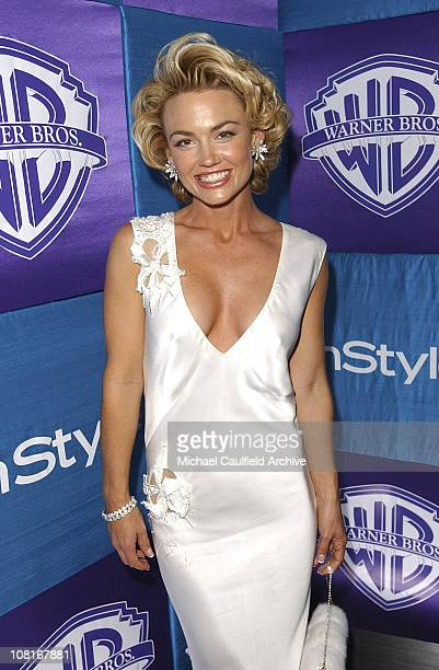 Kelly Carlson during 2005 InStyle/Warner Bros Golden Globes Party Arrivals at The Palm Court at the Beverly Hilton in Beverly Hills California United...