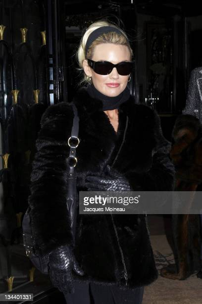 Kelly Carlson during Celebrity Sightings in Paris after Haute Couture Fashion Shows January 25 2007 at Hotel George V of Paris in Paris France