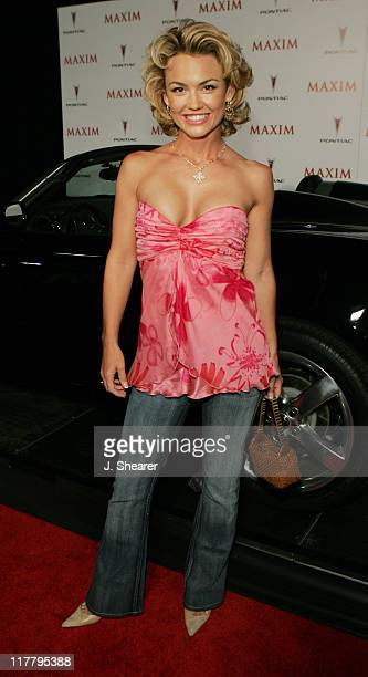 Kelly Carlson during Maxim Magazine's Hot 100 Red Carpet at The Day After in Hollywood California United States