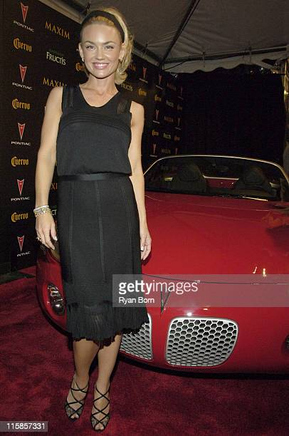 Kelly Carlson with 2006 Pontiac Solstice roadster during 2006 Maxim Hot 100 Party Red Carpet at Buddha Bar in New York City New York United States