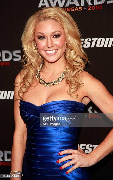 Kelly Carrington arrives at the 2010 NHL Awards Show at The Palms Casino Resort on June 23 2010 in Las Vegas Nevada
