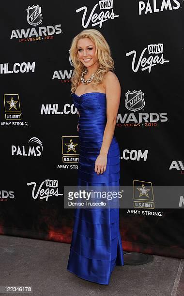 Kelly Carrington arrives at the 2010 NHL Awards The Palms Casino Resort on June 23 2010 in Las Vegas Nevada