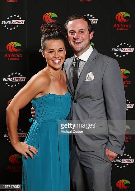 Kelly Cartwright arrives with botfriend Zach Cammalleri at the 2012 Australian Athlete of the Year Awards at Crown Casino on December 6 2012 in...