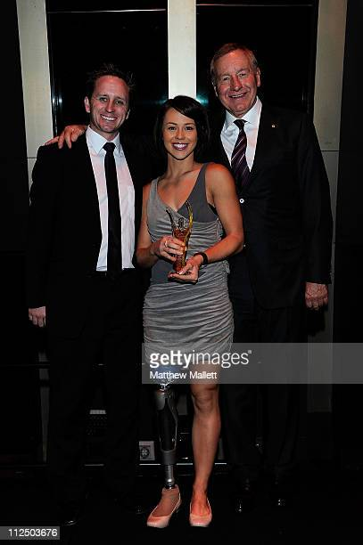 Kelly Cartwright during the Athletics Australia Athlete of the Year awards at Studio 3 Crown Entertainment Complex on April 17 2011 in Melbourne...
