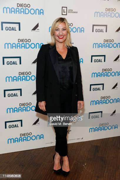 Kelly Cates attends a gala screening of Diego Maradona at the Picturehouse Central on June 10 2019 in London England