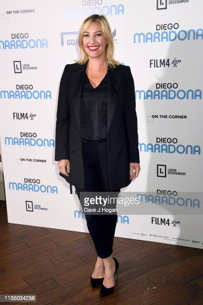 Kelly Cates attends the Diego Maradona Gala Screening at Picturehouse Central on June 10 2019 in London England