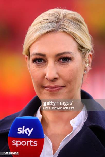 Kelly Cates daughter of Kenny Dalglish looks on during the Premier League match between Liverpool FC and Norwich City at Anfield on August 09 2019 in...