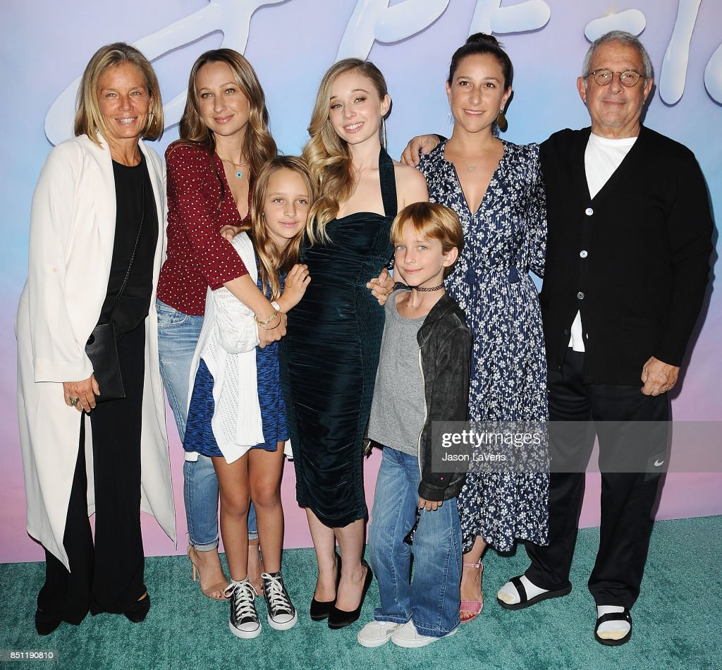 Kelly Chapman, Jennifer Meyer, Carson Meyer, Ron Meyer and family attend the premiere of 'SPF-18' at University High School on September 21, 2017 in Los Angeles, California.