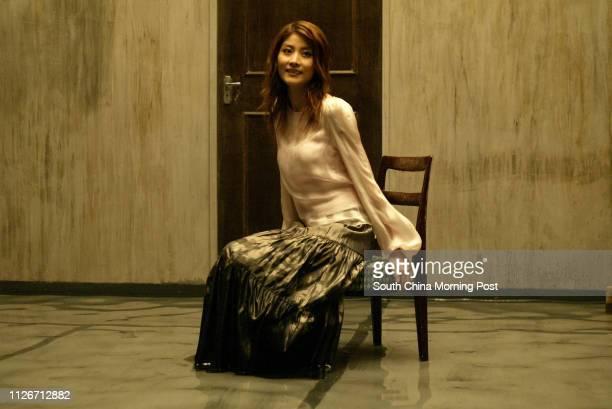 Kelly Chen Wai-lam,Canto-pop star filming Music Video at Sai Kung. 15 APRIL 2003