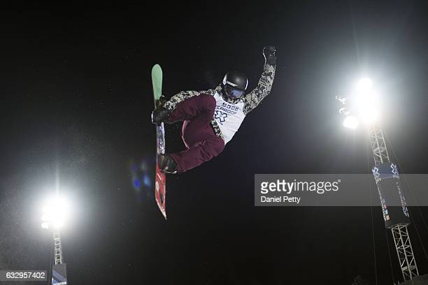 Kelly Clark competes during the second run of women's snowboard halfpipe during Day 3 of Winter X Games 2017 Aspen at Buttermilk Mountain on January...