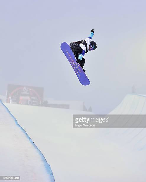 Kelly Clark of the United States goes high in the halfpipe during the women's halfpipe finals at the World Snowboarding Championships Oslo 2012 at...