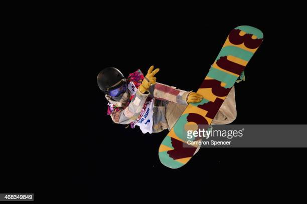 Kelly Clark of the United States trains during Snowboard Halfpipe practice during day 3 of the Sochi 2014 Winter Olympics at Rosa Khutor Extreme Park...