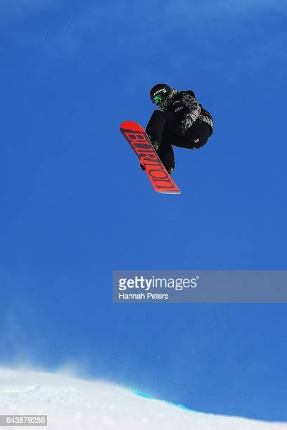 Kelly Clark of USA competes during the Winter Games NZ FIS Women's Snowboard World Cup Halfpipe Finals at Cardrona Alpine Resort on September 8 2017...