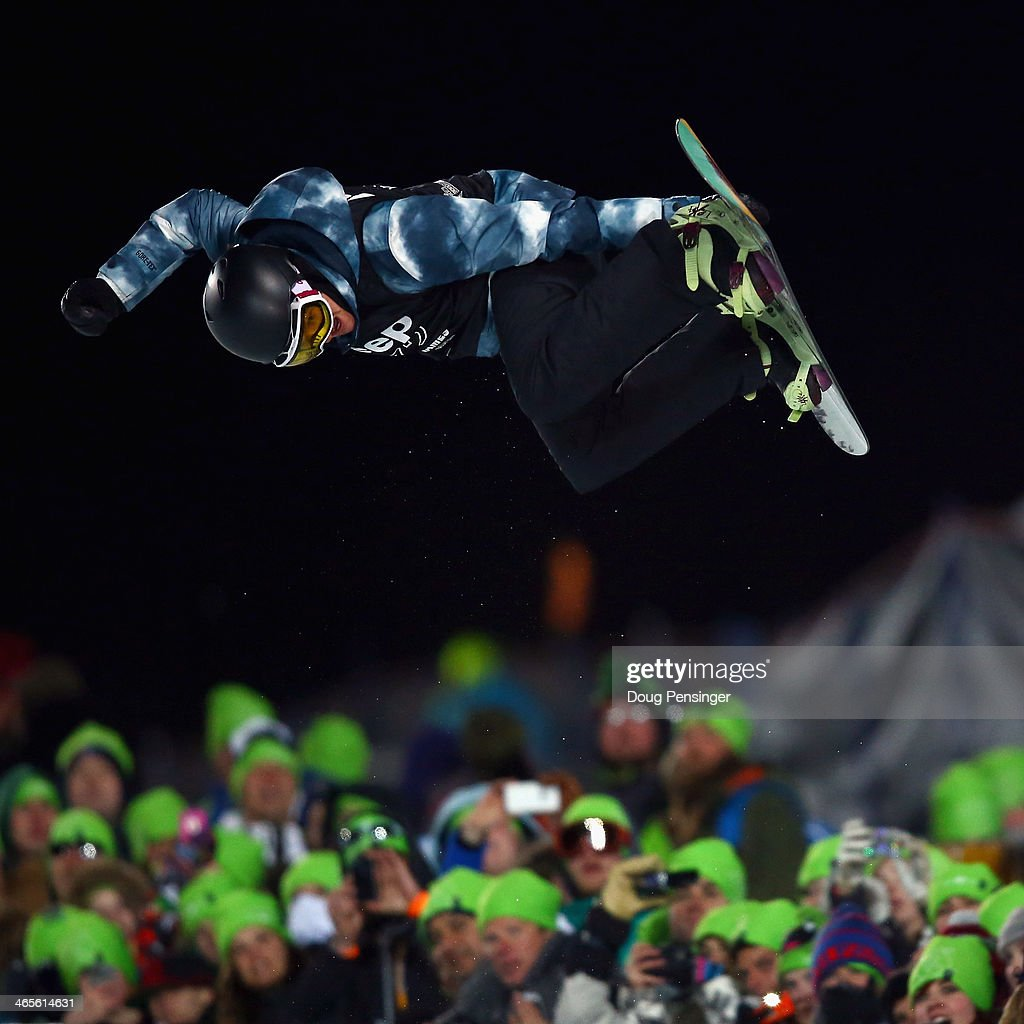Kelly Clark soars above the pipe and spectators en route to winning the women's Snowboard Superpipe at Winter X-Games 2014 Aspen at Buttermilk Mountain on January 25, 2014 in Aspen, Colorado.