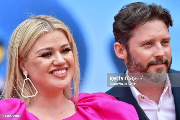 Kelly Clarkson and Brandon Blackstock attend STX Films World Premiere of UglyDolls at Regal Cinemas LA Live on April 27 2019 in Los Angeles California