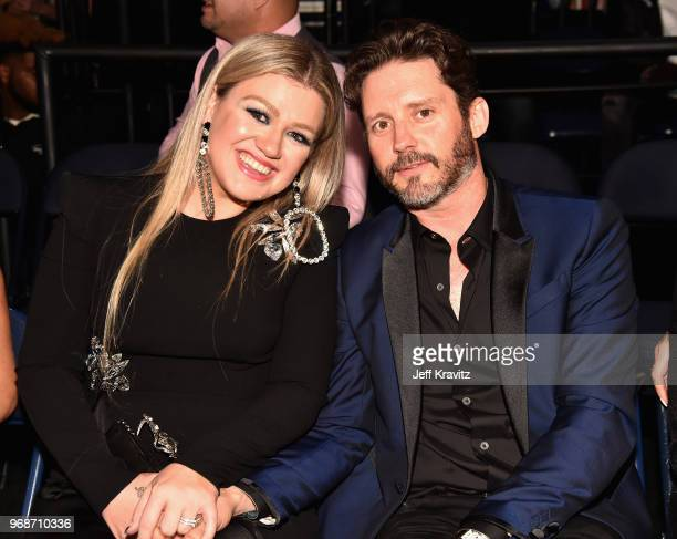 Kelly Clarkson and Brandon Blackstock attend the 2018 CMT Music Awards at Bridgestone Arena on June 6 2018 in Nashville Tennessee
