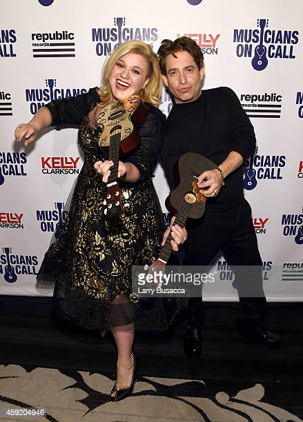 Kelly Clarkson and Executive Vice President Of Republic Records Charlie Walk attend Musicians On Call Celebrates Its 15th Anniversary Honoring Kelly...