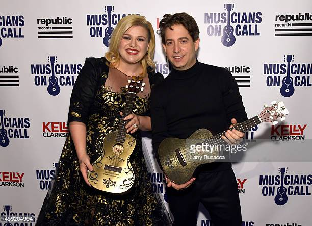 Kelly Clarkson and Executive Vice President Of Republic Records, Charlie Walk attend Musicians On Call Celebrates Its 15th Anniversary Honoring Kelly...