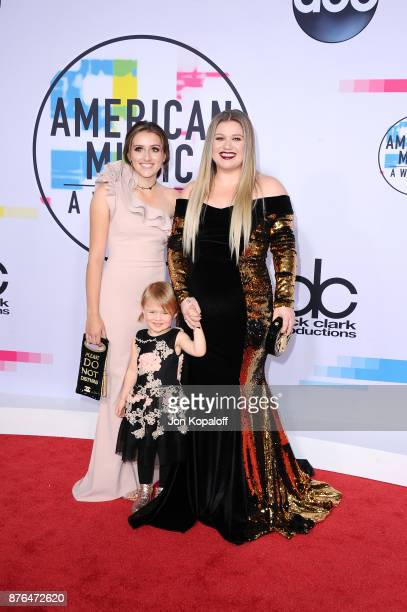 Kelly Clarkson and guests attend the 2017 American Music Awards at Microsoft Theater on November 19 2017 in Los Angeles California
