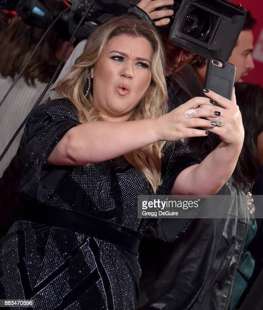 Kelly Clarkson arrives at the Billboard Women In Music 2017 at The Ray Dolby Ballroom at Hollywood Highland Center on November 30 2017 in Hollywood...